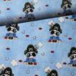 Kép 1/2 - Prémium pamut jersey, kalóz maci