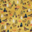 Kép 2/2 - Prémium pamut jersey, Mustár erdő