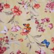 Kép 2/2 - Dekortextil, virág és pillangó sárga 1.40x1.10m
