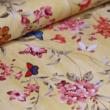 Kép 1/2 - Dekortextil, virág és pillangó sárga