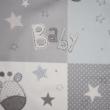 Kép 2/2 - Dekortextil, Baby állatkert kék és szürke