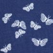 Kép 2/2 - Elasztikus pamut jersey, kék pillangó