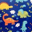 Kép 2/2 - Elasztikus pamut jersey, dinoszaurusz