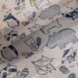 Kép 1/2 - Elasztikus pamut jersey, erdei állatok