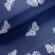 Kép 1/2 - Elasztikus pamut jersey, kék pillangó