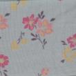 Kép 2/2 - Elasztikus pamut jersey, kék virágoskert