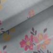 Kép 1/2 - Elasztikus pamut jersey, kék virágoskert