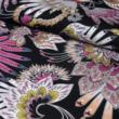 Kép 1/2 - Viszkóz voile, lila pillangó