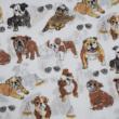 Kép 3/3 - Mintás pamutvászon, angol bulldog