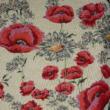 Kép 2/2 - Gobelin bútorszövet, pipacs mintázattal