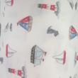 Kép 2/2 - Elasztikus pamut jersey, kishajós