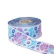 Kép 1/3 - Díszítő szalag, lila és kék virágos