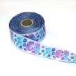 Kép 2/3 - Díszítő szalag, lila és kék virágos