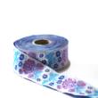 Kép 3/3 - Díszítő szalag, lila és kék virágos