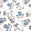 Kép 2/2 - Elasztikus pamut jersey, lajhár