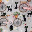 Kép 2/2 - Prémium pamut jersey, vintage kerékpár