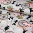 Kép 1/2 - Prémium pamut jersey, vintage kerékpár