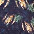 Kép 2/2 - Prémium pamut jersey, dzsungel