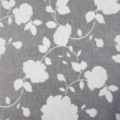 Kép 2/2 - Loneta vászon szürke alapon fehér rózsák