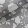 Kép 1/2 - Loneta vászon szürke alapon fehér rózsák