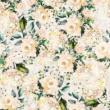 Kép 2/2 - Loneta vászon világos virágoskert
