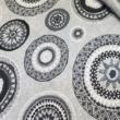 Kép 2/2 - Loneta vászon, Mandala (fekete)