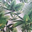 Kép 2/2 - Loneta vászon, zöld levelek