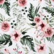 Kép 2/2 - Prémium mintás pamutvászon, Meseszép rózsaszín virágok
