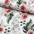Kép 1/2 - Prémium mintás pamutvászon, Meseszép rózsaszín virágok