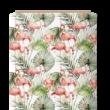 Kép 1/3 - Prémium mintás pamutvászon, Flamingó