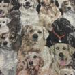 Kép 2/2 - Gobelin bútorszövet, kutya mintázattal