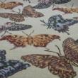 Kép 2/2 - Gobelin bútorszövet, pillangó mintázattal