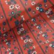 Kép 1/2 - Mintás pamutvászon, apró virág csíkos
