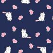 Kép 2/2 - Elasztikus pamut jersey, cica