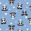 Kép 2/2 - Elasztikus pamut jersey, panda