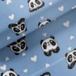 Kép 1/2 - Elasztikus pamut jersey, panda