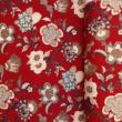 Kép 3/3 - Extra széles pamutvászon, piros virágok 240 cm