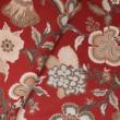 Kép 1/3 - Extra széles pamutvászon, piros virágok 240 cm