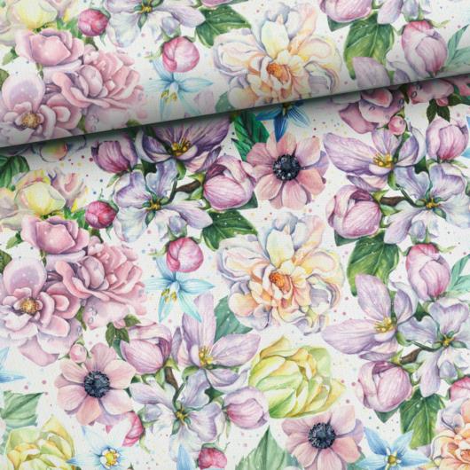 Prémium mintás pamutvászon, Virágzó nyár