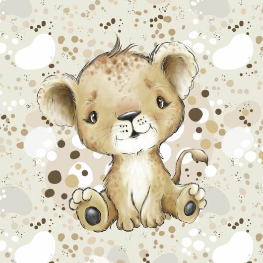 Futter, szabadidő anyag panel 40x50 cm, Édes afrikai oroszlán