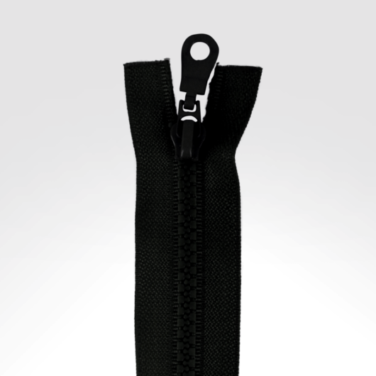 Dupla kocsis bontható cipzár, fekete 70cm