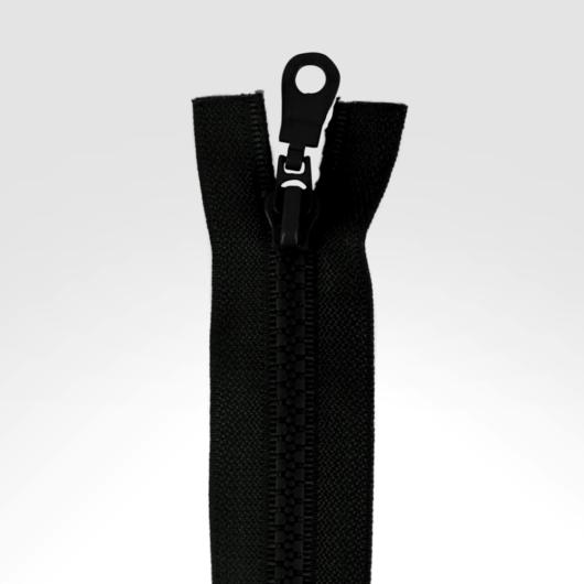 Dupla kocsis bontható cipzár, fekete 75 cm