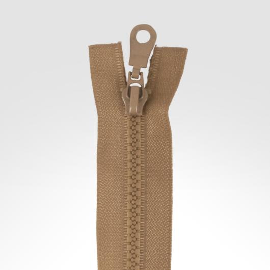 Bontható cipzár, 75 cm világos barna