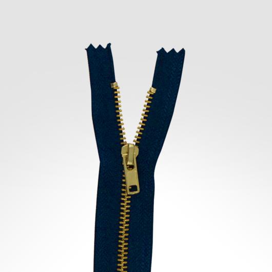 Fém cipzár 17 cm kék