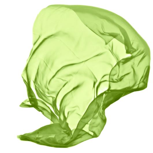 Muszlin, zöld