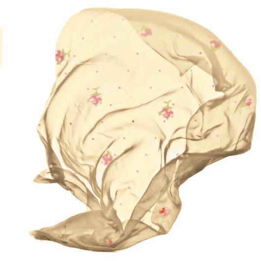 Muszlin virágos