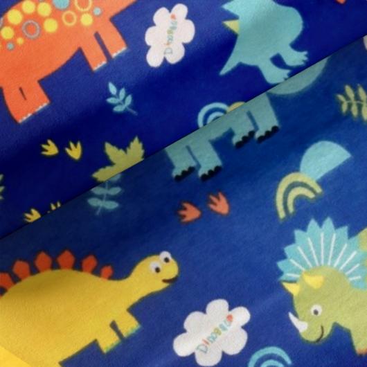 Elasztikus pamut jersey, dinoszaurusz