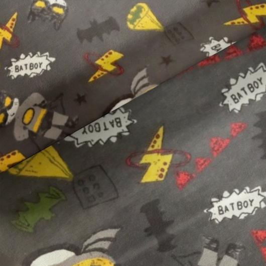 Elasztikus pamut jersey, Batman