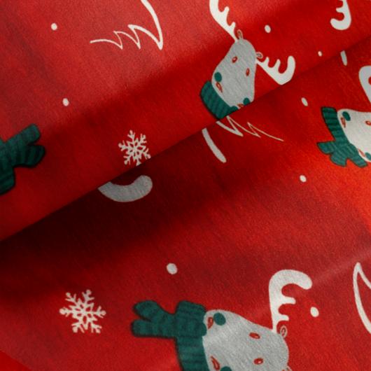 Elasztikus pamut jersey, Rudolf a rénszarvas