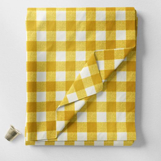 Minimatt - Panama szövet, sárga kockás